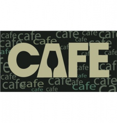 cafe background vector image
