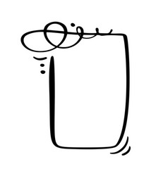 calligraphy cartoon quote speech bubble icon hand vector image