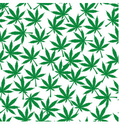 cannabis plant seamless pattern simple stylized vector image