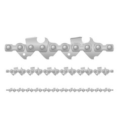 Chainsaw chain metal and sharply sharpened vector
