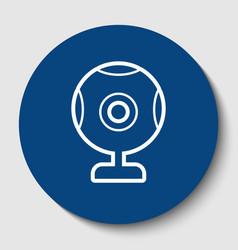chat web camera sign white contour icon vector image