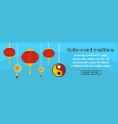 china culture and traditions banner horizontal vector image