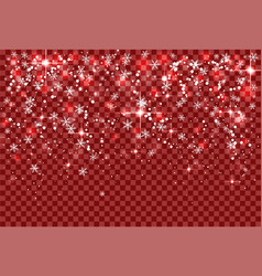 christmas holiday snowfall and sparkle snowflakes vector image