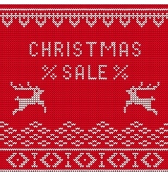 Christmas sale Knitted 1 vector image