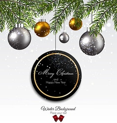 christnas background with firt twigs vector image