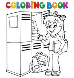 Coloring book school topic 5 vector