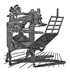 Columbian press vintage vector