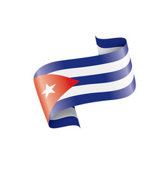 cuba flag on a white vector image