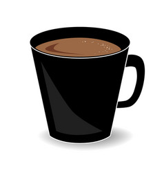 cup hot chocolate or cocoa drink isolated on vector image