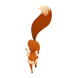 cute cartoon squirrel sweet friendly walking vector image
