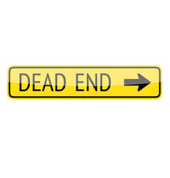 Dead End Sign vector image