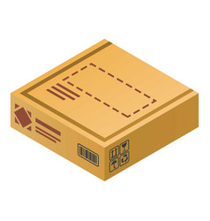 delivery carton box icon isometric style vector image