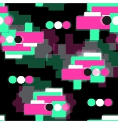 DIgital glitch seamless pattern vector