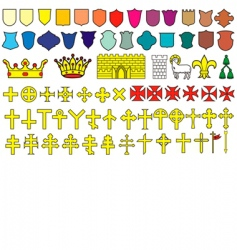 elements of the heraldic emblem vector image