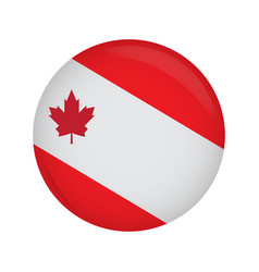 empty canadian campaign button vector image