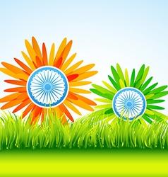 Flower indian flag vector