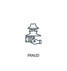 fraud concept line icon simple element vector image