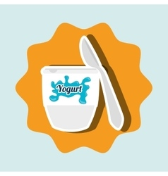 fresh yogurt isolated icon design vector image