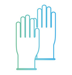 gloves pair in degraded green to blue color vector image