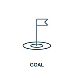 Goal outline icon thin style design from startup vector