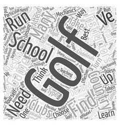 Golf School Word Cloud Concept vector