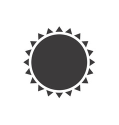 Gray silhouette with abstract sun close up vector