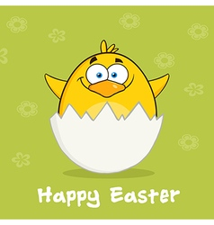 Happy Smiling Easter Chick Cartoon vector image