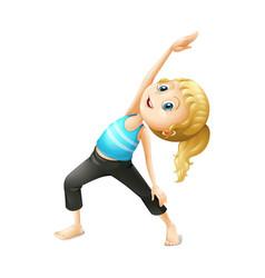 kids yoga exercise vector image