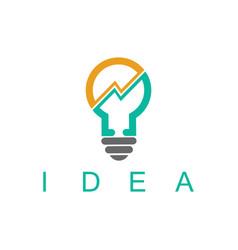 light bulb idea business logo vector image