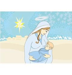 Madonna and child jesus vector