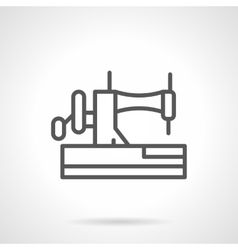 Manual sewing machine black line icon vector image