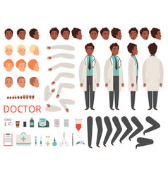Medic animation doctor characters hospital vector