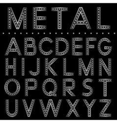 Metal ball letters vector image