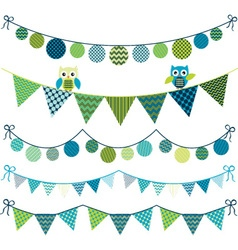 Owl Bunting Banner vector image