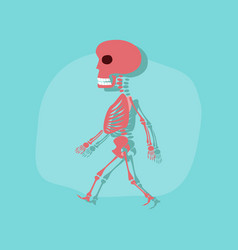 Paper sticker on stylish background skeleton vector