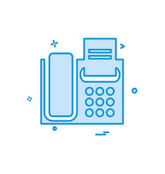 phone icon design vector image