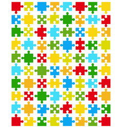 Pieces colorful puzzle vector