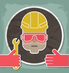 Portrait a mechanic vector