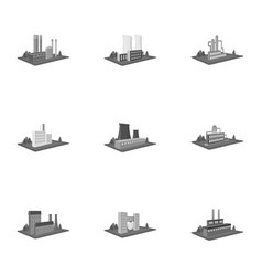 processing factorymetallurgical plant and other vector image