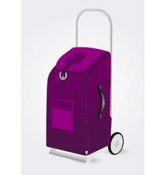 purple trolley suitcase vector image