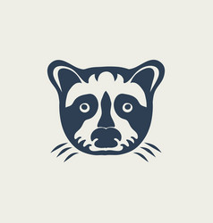 raccoon logo design icon vector image