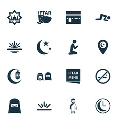 Religion icons set collection of religious vector