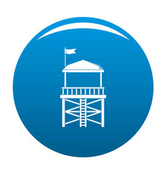 Rescue tower icon blue vector