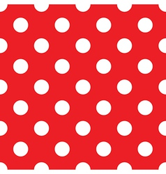 Seamless red polka dot vector