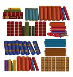 Set ancient books encyclopedias volumes vector