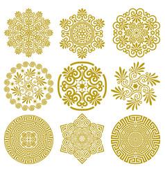 set design elements in greek style vector image