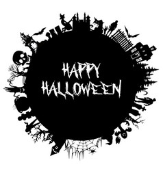 set of silhouettes for halloween halloween party vector image