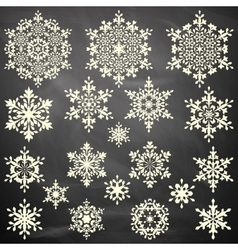 Set of snowflakes template EPS 10 vector image