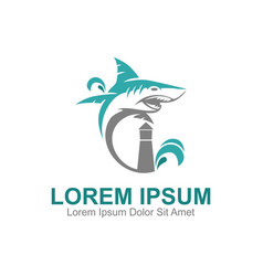 Shark park logo vector