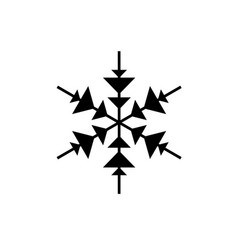 snowflake decor black icon sign on vector image